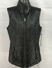 Womens Spanner NWT Reversible Black/Grey Vest Size Small Hipster