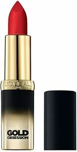 Loreal Color RlCHE Lipstick - ROUGE GOLD OBSESSION - NEW SEALED