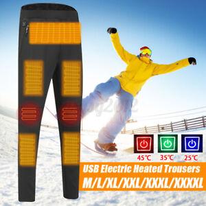 USB Electric Heated Warm Pants Winter Warmer Heating Trousers Elastic Unisex UK