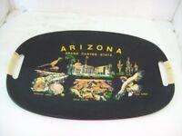 Vintage Mid Century Japan Masonite Serving Tray Platter Arizona Souvenir D9