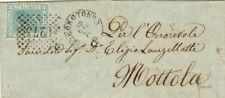GG150-PUGLIA, LOCOROTONDO, NUMERALE A PUNTI PER MOTTOLA, 1870