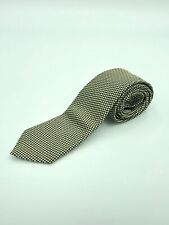 Gieves & Hawkes Savile Row Tie, 100% Silk, Green Gold and Navy, Made in England