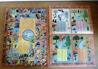 2 anciens suppléments du journal de TINTIN calendrier 1955 et jeu de l'oie