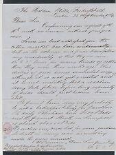 GBAB 37 GB QV 1869 letter to Norway Frederikshald Halden revenue stamp