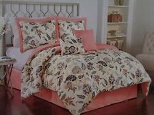 NEW TRADITIONS BY WAVERLY ASIAN MYTH APRICOT 6 PIECE  KING  COMFORTER SET