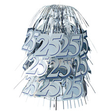 SILVER 25th ANNIVERSARY TABLE CENTREPIECE WEDDING TABLE DECORATION