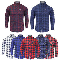 Men's Tokyo Laundry Long Sleeve Check Pattern Cotton Shirt Lumberjack NEW S-XL