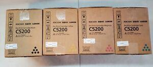 Genuine OEM Ricoh 828422 828423 828424 KYMC Toner Cartridge Set C5210 C5200 - A1