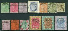 SG 1-13 British Somaliland ½d - 5r set of 13. Very fine used CAT £190