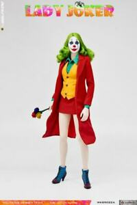 """WOLFKING 1/6 Red Clothes Girl Joker Clown Action Figure WK89022B 12"""" Female Doll"""