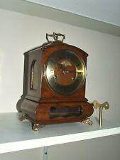 "Rare Dutch Warmink/Wuba Mantle Clock,""Cabinet"", Pendulum Movement, 2 bells"