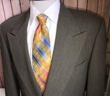MANI GIORGIO ARMANI Green DBL Breasted Jacket Blazer Sportcoat Wool Nylon Sz 40R