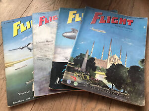 Four 1955 Flight And Aircraft Engineer Magazines