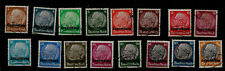 1940 Nazi Germany Occupation of Luxembourg Hindenburg Overprinted Stamps Set