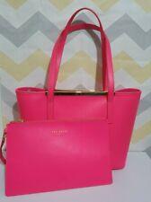 Ted Baker pink leather medium tote bag