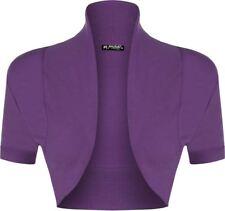 Ladies Womens Bolero Short Sleeves Cropped Cardigan Open Shrug Top Plus Sizes