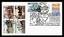 DR WHO 1992 FDC JOINT ISSUE ITALY COLUMBUS 1ST VOYAGE COMBO BLOCK  f30874