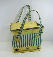 Pepsi Cooler Bag Light Refreshment Soft Shelled VTG Striped Blue Yellow 1950s