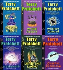 Terry Pratchett Discworld WITCHES Series PAPERBACK Collection Set of Books 1-6