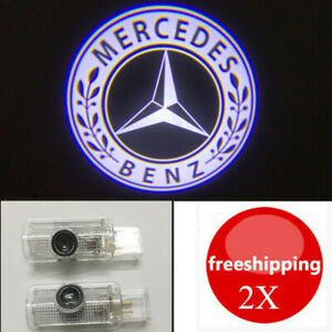 2X HD Projector Ghost Shadow Lights Door Logo DH For Mercedes-Benz GL ML R Class