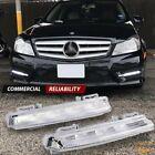 For 07-14 Mercedes W204 C300 C 350 Fog Lights White LED DRL Daytime Running Lamp