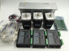 Nema23 Stepper Kit 255oz.in Stepper Motor Driver 3Axis +Supply+5Axis Board Set