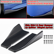 Carbon Fiber Look Universal Side Skirt Rear Bumper Lip Splitter Winglet Aprons