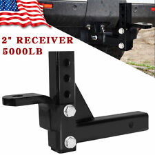 """10"""" Adjustable Ball Mount Trailer Drop Hitch Tow 2"""" Receiver Towing System Truck"""