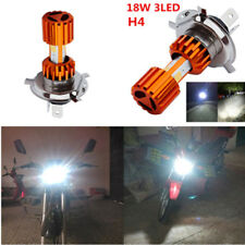 H4 Motorcycle LED Headlight Bulb Super Bright 3-COB Hi/Lo Lamp Scooter Fog Light