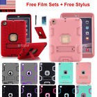 """Heavy Duty Case Stand Cover For iPad Mini 1/2/3/4/5/Air, iPad 10.2"""" 7th/ 8th Gen"""