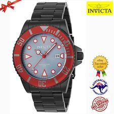 Invicta Men's 'Pro Diver' 90296 Quartz Black Red Grey Dial Stainless Steel Watch