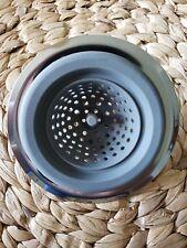 Kitchen Sink Strainer Basket Gray Silicone W Stainless Steel Will Not Plug Drain