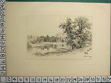 1885 PRINT STRATFORD-ON-AVON ~ CHARLECOTE PARK ~