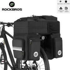 ROCKBROS 48L Rear Seat Trunk Bag 3 in 1 Multifunction Road Bicycle Pannier UK