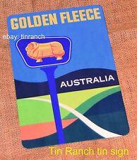 GOLDEN FLEECE australia TIN SIGN new retro petrol station advertising road map