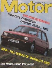 Motor magazine 7/5/1983 featuring Daihatsu Charade road test, Sbarro Mercedes