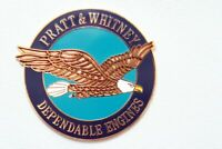 Pratt and Whitney Dependable Engines Emblem Enamel, Solid Metal Badge Plate