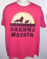 Disney The Lion King Hakuna Matata Men's Tee T-Shirt Large