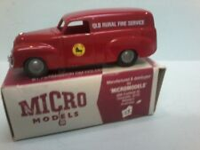 MODIFIED Plastic  MICRO MODELS  FJ Holden Panel Van with QLD RURAL FIRE SERVICE