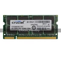 New Crucial 4GB DDR2 PC2-6400 800MHZ 200pin Laptop Memory Sodimm Speicher Ram