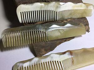 Echt Horn Kamm Made in France Corne veritable handmade Staubkamm Taschenkamm