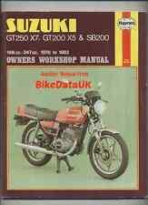 Suzuki GT250 X7 GT200 X5 (1978-1983) Haynes Shop Manual Book SB GT 250 200 E