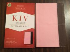 KJV Ultrathin Reference Bible - $24.99 Retail - Pink / Brown Leathertouch