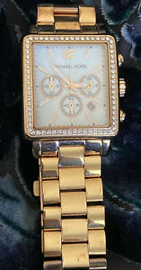Michael Kors MK5571 Hudson White Dial Rose Gold Chronograph Women's Watch