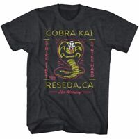 Fashion Karate Kid Black T Shirt Mens Movie Cobra Kai Tee shirt