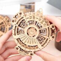 Mechanical Wooden Puzzle Perpetual Calendar  Creative 3D Model DIY Building Kit