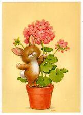 Artisti-AK Pasqua/piccolo coniglio è in un portone