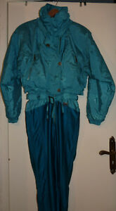 Combinaison de ski couleur turquoise Femme T 40 EIDER Diamant TBE
