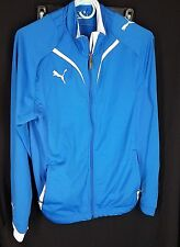 Puma Jacket blue white zipper track long sleeve mens size Small
