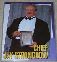 CHIEF JAY STRONGBOW SIGNED WWF WWE WRESTLING PHOTO MAGAZINE PAGE HALL OF FAME 94